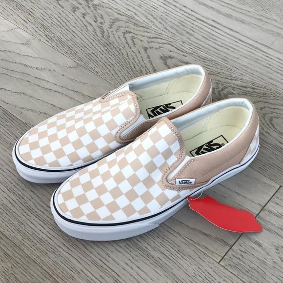 344bda8dd00 Vans Classic Slip On Checker Frappe